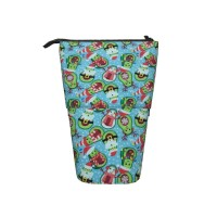 Avocado Santa Claus And Reindeer Pop Up Pencil Case Stand Up Pen Holder Cute Telescopic Pencil Pouch,Very suitable for teens Telescopic Pencil Case,Pencil Telescopic.