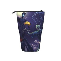Creeper Enderman Ghost Mojang Monster Night Pop Up Pencil Case Stand Up Pen Holder Cute Telescopic Pencil Pouch,Very suitable for teens Telescopic Pencil Case,Pencil Telescopic.