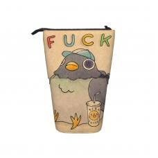'Fuck' Pigeon 01 Pop Up Pencil Case Stand Up Pen Holder Cute Telescopic Pencil Pouch,Very suitable for kids Telescopic Pencil Case,Pencil Telescopic.