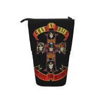 Guns N' Roses Pop Up Pencil Case Stand Up Pen Holder Cute Telescopic Pencil Pouch,Very suitable for kids Telescopic Pencil Case,Pencil Telescopic.