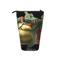 King K Rool Pop Up Pencil Case Stand Up Pen Holder Cute Telescopic Pencil Pouch,Very suitable for adults Telescopic Pencil Case,Pencil Telescopic.