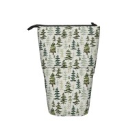 Starry Night Sky Forest Pop Up Pencil Case Stand Up Pen Holder Cute Telescopic Pencil Pouch,Very suitable for students Telescopic Pencil Case,Pencil Telescopic.